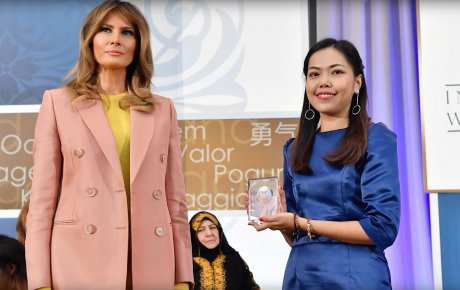 Melania Trump and awardee