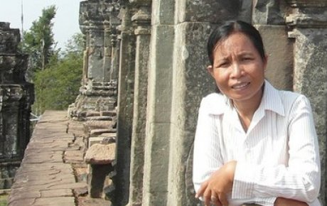 Cheam Phally oversees the multi-year project to preserve the 10th-century Khmer temple of Phnom Bakheng at Angkor.