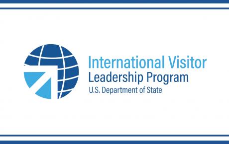 Text graphic reads: International Visitor Leadership Program