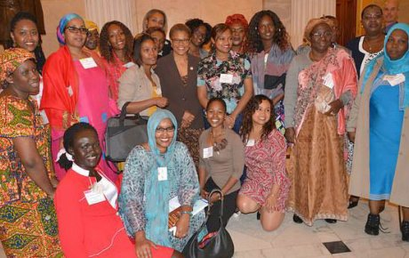 Group shot of mostly African women