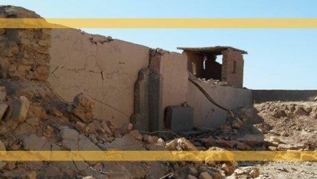 Crumbling ancient ruin
