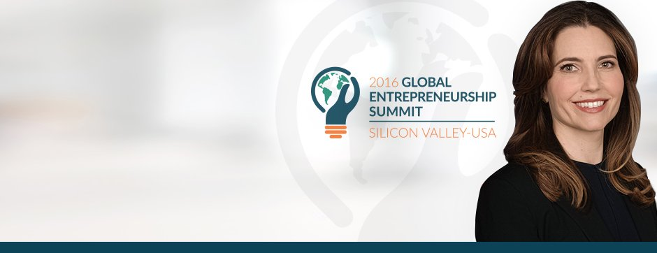 Photo of Assistant Secretary Evan Ryan next to Global Entrepreneurship Summit logo