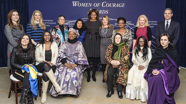Group photo of International Women of Courage