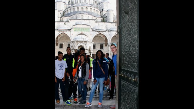 The sports trip allowed the students to discover the amazing convergence of history and geography in amazing Istanbul