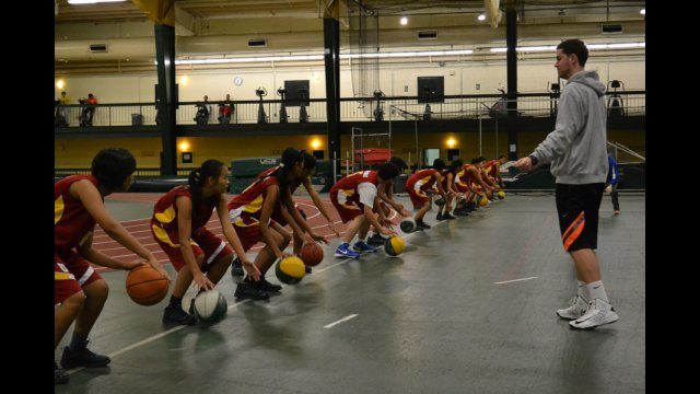 The group participates in a special strength and conditioning clinic in Washington, D.C.
