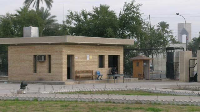 New security building at Iraq Museum entrance gate, July 2004