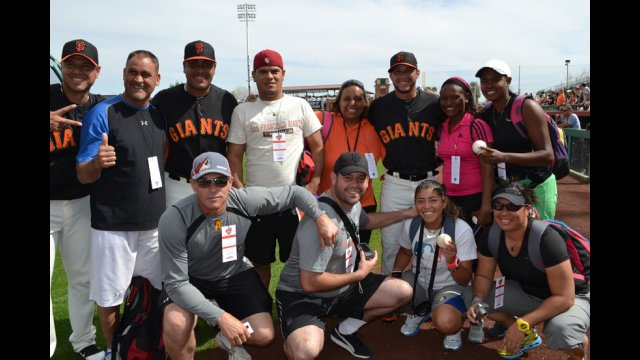 After watching a round of the World Baseball Classic, the young coaches with players from the San Francisco Giants.