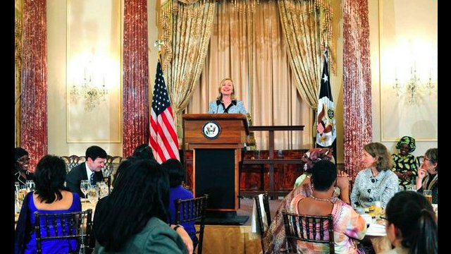 Former Secretary Clinton delivered remarks to the participants in the 2011 African Women's Entrepreneurship Program, at the Department of State.