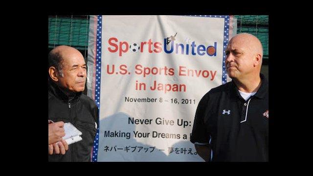 "Cal Ripken is reunited with his longtime friend, Mr. Sachio Kinugasa, Japan's own ""Iron Man"" of baseball."