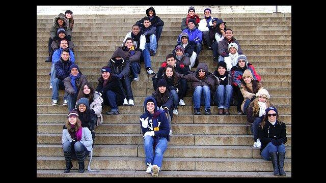 Youth Ambassadors at the Lincoln Memorial.