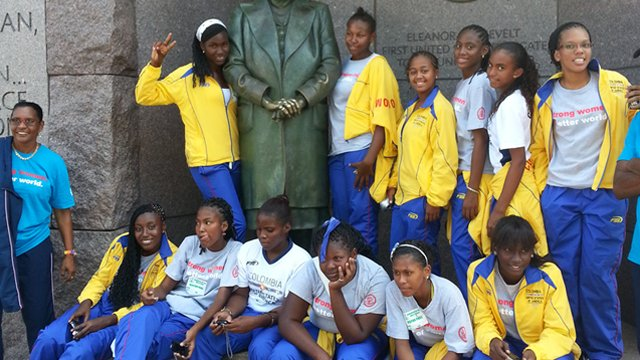 During their tour of the nation's capital, the group learned about outstanding American female leaders—including Eleanor Roosevelt.