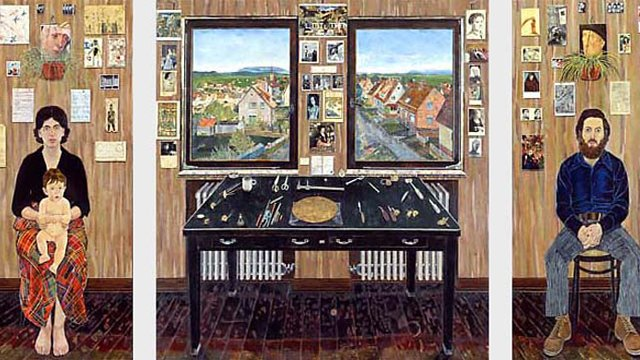 The Fulbright Triptych, which Simon Dinnerstein began painting while on a Fulbright grant to Germany in 1970, was another highlight as Mr. Dinnerstein joined the Board to reflect on his Fulbright experiences and their influence on his work.