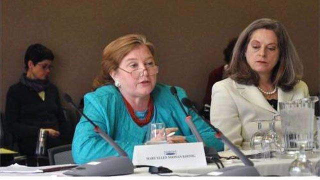 Chief, European and Eurasian Programs Branch and Deputy Assistant Secretary Alina Romanowski.