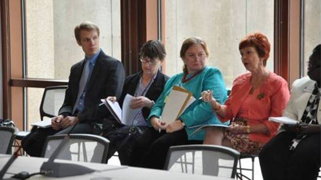 Staff from Public Affairs, Office of Academic Exchange Programs,  European and Eurasian Programs; European and Eurasian Programs;  Office of Enrollment Services, and American Universityparticipated in the FSB meeting.