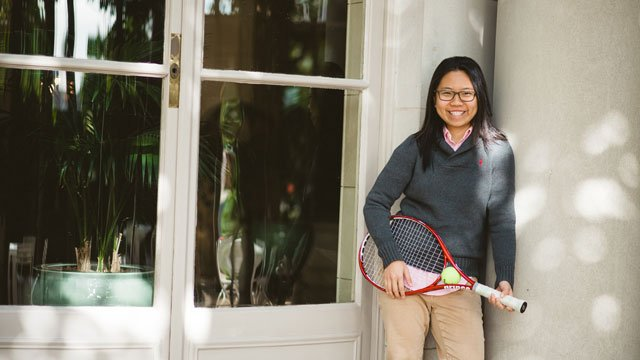 Combining her passion for sport, especially tennis, with her love of writing, May Chen has charted a new path for women in Singapore – the path of a female sports journalist.