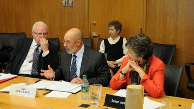 FSB Members Gabriel Guerra-Mondragón and Susan Ness with Principal Deputy Assistant Secretary for Educational and Cultural Affairs Adam Ereli.