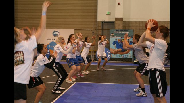 The participants practice their shooting skills during a session in Denver.