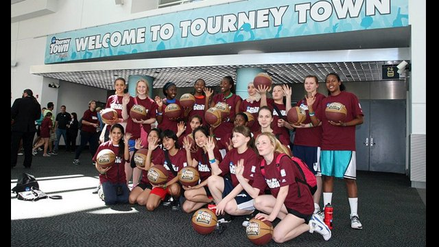 The group participated in many basketball sessions and activities during their week in Denver, Colorado.