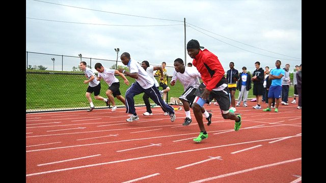 The participants joined in Special Olympics activities at the Penn Relays in Pennsylvania.