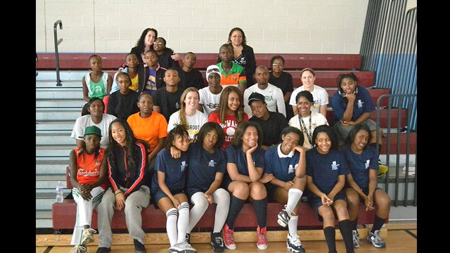 As part of the program, participants played in a soccer scrimmage with the TOPSoccer team in Pennsylvania.