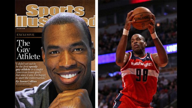 Jason Collins in Sports Illustrated and on the court-Photos compliments of NBC and Sports Illustrated.