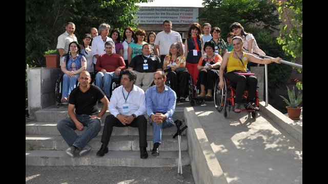 American participants visit MIUSA's in-country partner organization, Pyunic, for a tour, cultural orientation, and discussion on issues impacting sport opportunities for youth with disabilities.