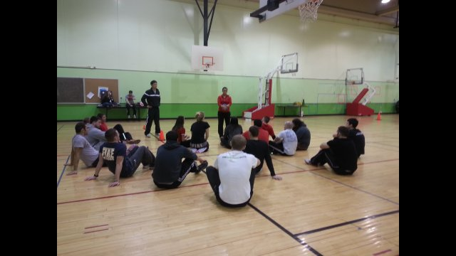 The delegates observing an NIU university class teaching physical educators techniques for positive youth development