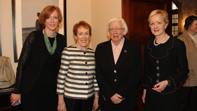 FFSB Members Laura Skandera Trombley and Betty Castor, with President Emeritus of the University of Chicago Fulbright Alumna Hanna Holborn Gray and U.S. Assistant Secretary of State for Educational and Cultural Affairs Ann Stock.
