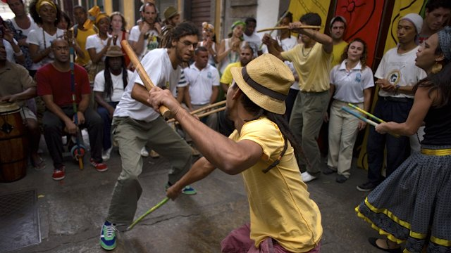 Local Capoeira and samba display