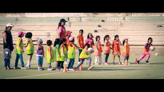 Young girls participate in drills during a GO GIRL Pakistan Mommy & Me camp