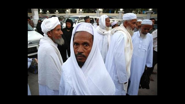 Men getting ready to leave for Sauda Arabia for the Hajj in Mecca