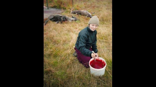 Woman Hunting Reindeer