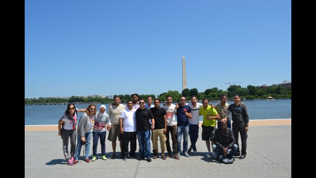 The group went on a DC tour visiting the famous landmarks including the Washington Monument while learning about the history of the nation's capital.
