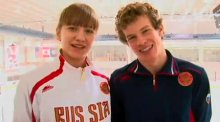Photo of two ice hockey participants