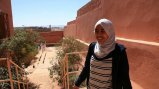 Khadija Bencekri, 2012 TechGirl Morocco alumna, teaches HTML to young girls in her home community in Zagora.