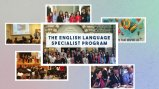 "Collage of photos with the title ""The English Language Specialist Program"" on top"