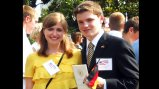 German CBYX participants at the June 7, 2011, White House Welcome Ceremony for Chancellor Merkel.