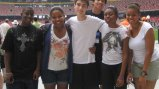 NSLI-Y students visit the Olympic stadium in Beijing, China.