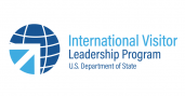 New IVLP logo looks like a globe with an arrow cut into the lower left corner