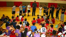 Gheorghe Muresan Trains Turkish and American Youth during World Learning Exchange Program