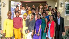 Graduation of the first cohort of 35 Haitian women from the Academy for Women Entrepreneurs (AWE)