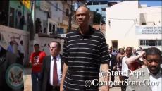 Kareem Abdul-Jabbar in Salvador, Brazil