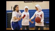 Saudi Arabian Girls Come to the U.S. for Basketball Clinics