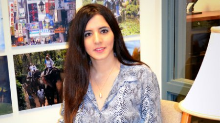 Fulbright Foreign Student, Dina Sanioura, at home in the West Bank.