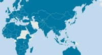 Fulbright Programs by Country map