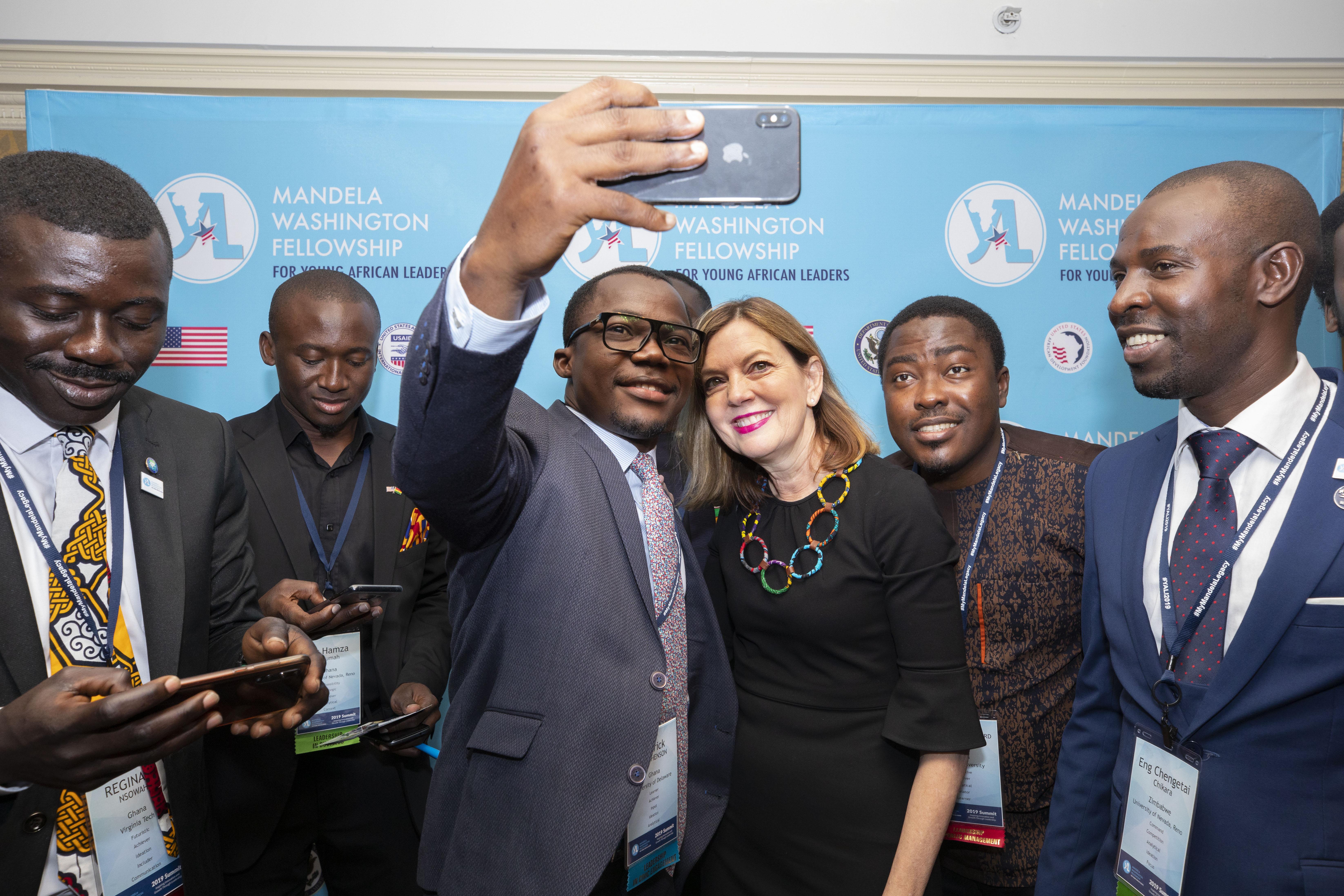 Assistant Secretary Royce with Mandela Washington Fellowship Summit attendees
