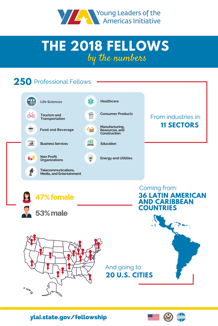 2018 Fellows by the Numbers graphic