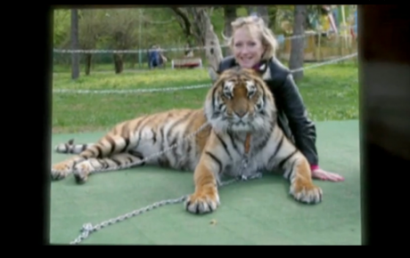 Caralyn Bushey takes time to make new friends outside the classroom.