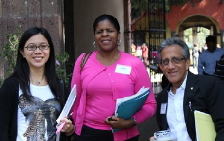Ruth Browne (center)