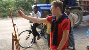 U.S. Scholar Greg Thielker in India.